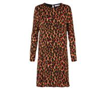 Kleid 'Marice' camel / feuerrot / schwarz