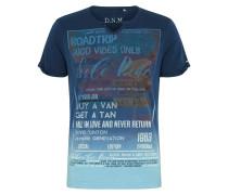 Shirt blau / hellblau / weiß / braun