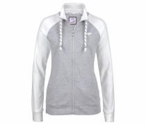 Shirtjacke graumeliert / offwhite