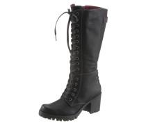 Stiefel mit Zierschnürung schwarz