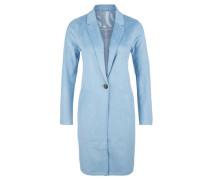 Leichter Velour-Mantel hellblau