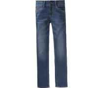 Jeans Regular Fit im leichten Used-Look für Jungen blau