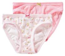 Doppelpack Slips für Mädchen hellblau / grün / rosa / pastellpink