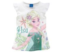 Top mit Elsa-Motiv von ´s Frozen für Mädchen weiß