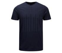 Einfaches Slim-Fit-T-Shirt navy