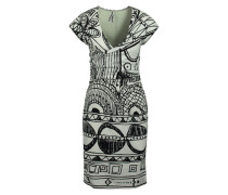 Kleid 'isis' weiß / schwarz
