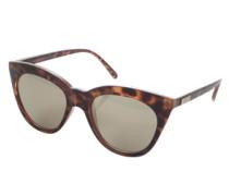 Sonnenbrille 'Halfmoon Magic' braun / schwarz