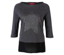 Blusen-Shirt mit Sternchen schwarz