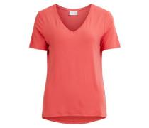 T-Shirt V-Ausschnitt rot