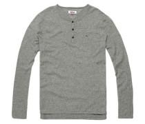 Hilfiger Denim T-Shirt »Thdm Basic Henley 13« grau