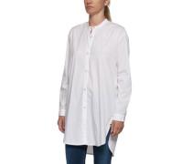 Hemd mit seitlichen Schlitzen weiß
