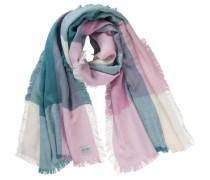 Schal petrol / rosa