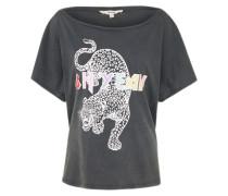 Loose Fit Shirt 'Leopard' anthrazit