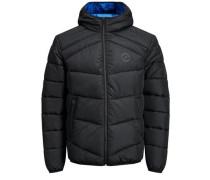 Trendige Wattierte Jacke schwarz