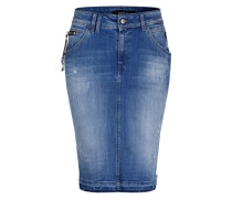 Jeansrock mit Destroyed-Effekten blue denim