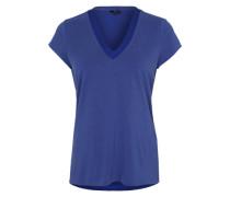 T-Shirt mit Kontrastdetails blau