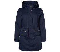 Mantel Parka blau