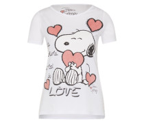 T-Shirt 'Snoopy' weiß