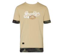 T-Shirt 'Defend BK' beige / sand