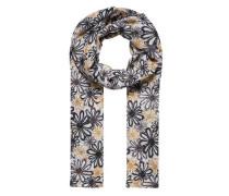 Schal mit Flower-Print mischfarben