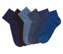 Kurzsocken (6 Paar) navy / blue denim / dunkelblau / graphit / dunkellila