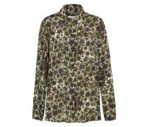 Bedruckte Bluse 'Shirt Blouse' navy / oliv