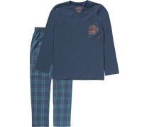Schlafanzug für Jungen dunkelblau