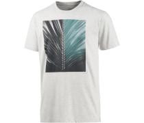 'Dark Leaf' T-Shirt Herren türkis / schwarz / weiß