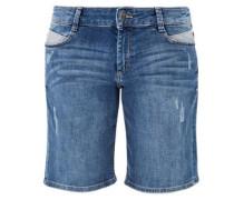 Smart Short: Used-Jeans blue denim