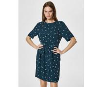 Kleid mit kurzen Ärmeln Print grün