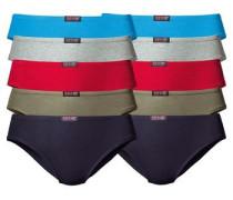 Slip (10 Stck.) neonblau / dunkelblau / grau / oliv / rot