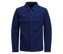 Overshirt-Jacke blau