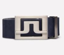 Leder-Gürtel 'Slater 40' blau