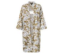 Kimono 'dana' oliv / weiß