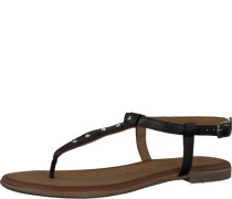 Zehentrenner-Sandale schwarz