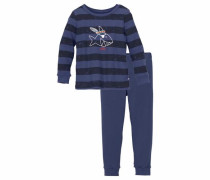 'Capt'n Sharky' Pyjama lang für Jungs blau