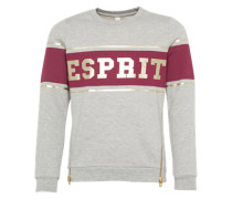 Sweatshirt 'sweat Shirt' gold / hellgrau / bordeaux