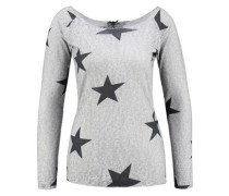 Pullover mit Sternen hellgrau / schwarz