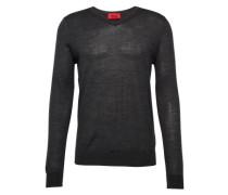 Pullover mit V-Ausschnitt 'San Carlo' dunkelgrau