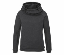 Sweatshirt 'Bear Hood' schwarzmeliert