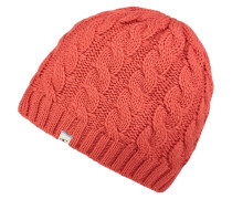 Beanie aus Strick orange