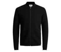 Strukturierter Strick-Cardigan schwarz