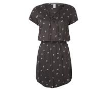 Kleid mit Paisleymuster kastanienbraun