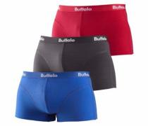 Baumwoll-Hipster (3 Stck.) blau / rot / schwarz