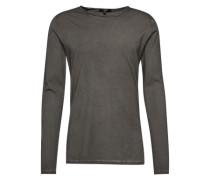 Langarmshirt in Garment Dyed 'Kerin' graphit