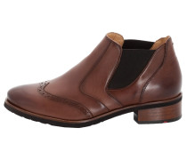 Schuhe mit Gummizug braun / schwarz