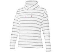 Sweatshirt 'Olivia' weiß / grau