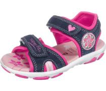Kinder Sandalen WMS-Weite M4 dunkelblau / pink