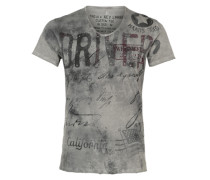 T-Shirt 'Driving' grau