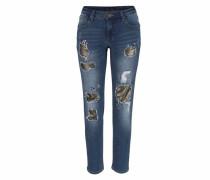 Destroyed-Jeans dunkelblau